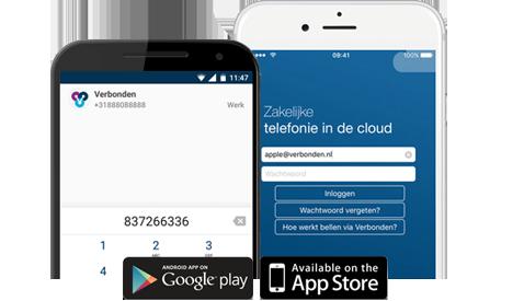 Vast nummer op je mobiel met onze iOS/Android App